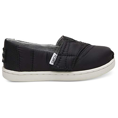 (TOMS Kids Black Quilted Tiny Classics 10012566 (Size: 2))