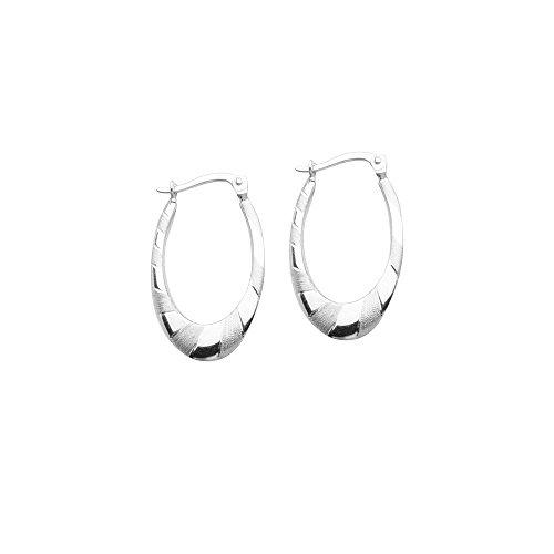 Hoop Earrings Artform Designer Collection Sterling Silver Nontarnish