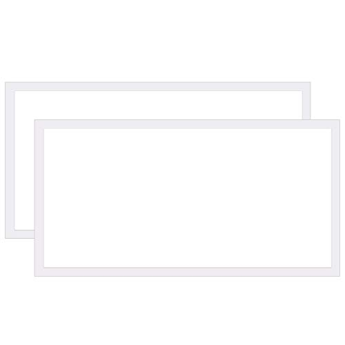 Hykolity 2x4 FT LED Panel Light, 50W[3-lamp F32T8 Equiv.]5250lm Drop Ceiling LED Flat Panel Light, 4000K Recessed Edge-Lit Troffer Fixture for Office, 0-10V Dimmable,DLC Complied, 2 Pack