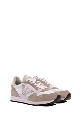 Scamosciata B Pelle Emporio Sneaker Logo Armani grigio Con co qA6ntw4