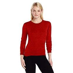 Minus33 Merino Wool Women's Moriah Lightweight Crew, True Red, X-Large