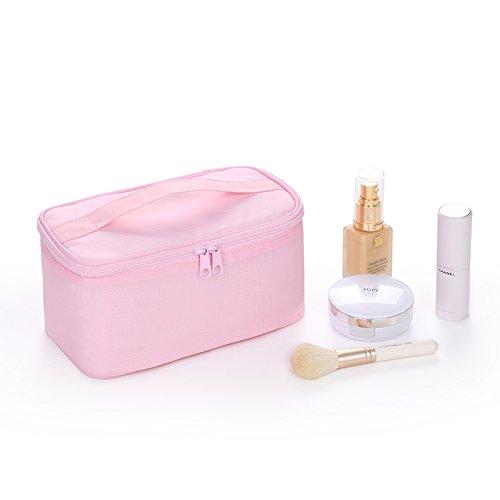 LULAN Travel Kosmetiktasche kleine tragbare Zulassung Paket Einfache großer Waschtisch pack schöne Hand Tasche, 22 * 12 * 12 cm, kirsche Pulver