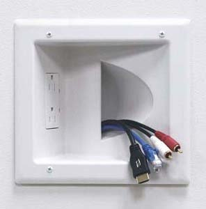 InstallerParts Recessed Media Plate with Duplex Receptacle