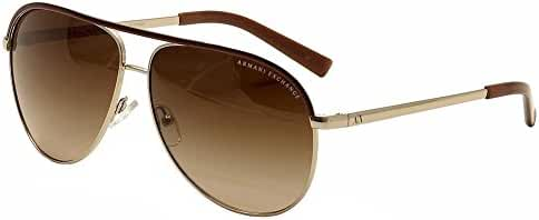 Armani Exchange AX2002 Sunglasses-601013 Light Gold /Brown Grad Lens-61mm