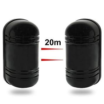 Wewoo Barrera infrarroja 2 Vigas Correlation Guardrail Beam Detector Distancia Exterior: 20 m Interno: 60 m: Amazon.es: Electrónica