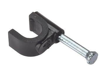 Black Forgefix RCC67B Round Coax Cable Clip