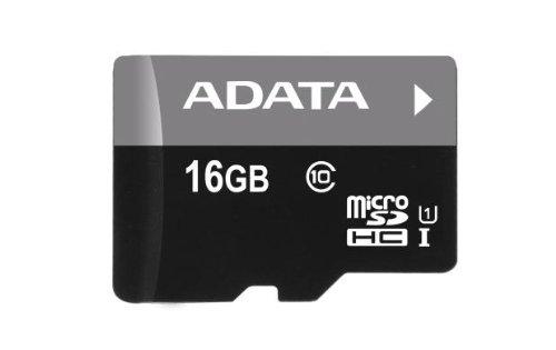 ADATA Premier 16GB microSDHC/SDXC UHS-I U1 Memory Card with Adapter (AUSDH16GUICL10-RA1)