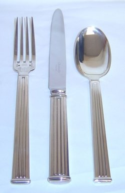 Christofle Silver Plated Triade Table Spoon 0036-002 Christofle Silver Plated Spoon
