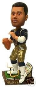 (ST LOUIS RAMS KURT WARNER ACTION FIELD BASE BOBBLE HEAD NEW MVP YEAR FOREVER COLLECTIBLES)