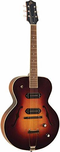The Loar LH-279-VSM Dual P-90 Arch Top Guitar, Matte Sunburst