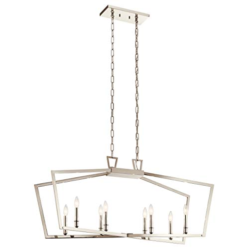 - Kichler 43494PN Abbotswell Chandelier, 8-Light 480 Total Watts, Polished Nickel