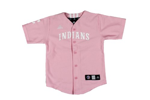 MLB Cleveland Indians Pink Toddler Jersey By Adidas