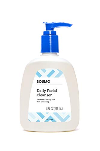 Amazon Brand - Solimo Daily Facial Cleanser, Normal to Oily Skin, 8 Fluid Ounce (Best Facial For Normal Skin)