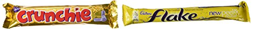 Cadbury Chocolates Variety Pack 4 Flake + 4 Crunchie (Cadbury Best Selling Chocolate)