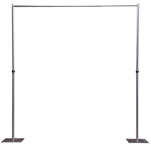 (OnlineEEI, Adjustable Height Pipe and Drape Backdrop or Room Divider Kit, 7ft to 12ft High x 7ft to 12ft Wide, Premier Drape Not Included)