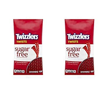 TWIZZLERS Sugar Free Strawberry Licorice Candy, Halloween Candy, 5 Ounce - Pack of 12 (2 Pack)