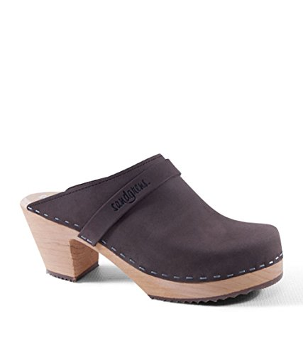 Sandgrens Swedish High Heel Wooden Clog Mules For Women | Sandgrens Svenske Højhælede Træsko Muldyr For Kvinder | Dublin Fudge (light Base) Dublin Fudge (lys Bund) b90MuO