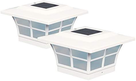 Classy Caps SL085 5×5 Prestige Solar Post Cap – 2 Pack White
