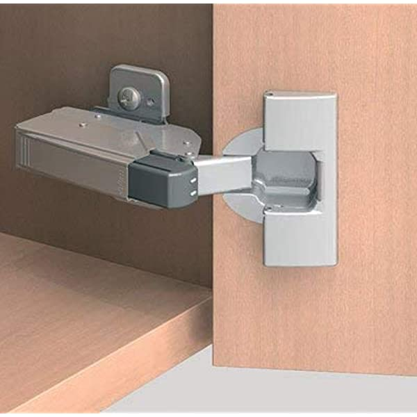 Pack of 10 Blum 973A0500.01x5 973A Blumotion Straight Arm Full Overlay Hinge for Doors Nickel Finish
