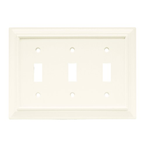 Brainerd 64548 Wood Architectural Triple Toggle Switch Wall Plate / Switch Plate / Cover
