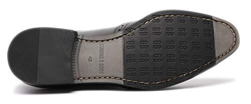 S181727 Gordon Nero Stringate amp; Mirco Uomo Bros Scarpe wx8TSq