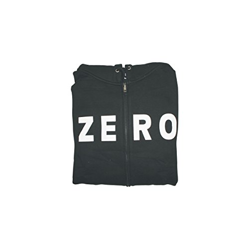 Zero Skateboards Army Black Zip-Up Hooded Sweatshirt - Medium by Zero Skateboards