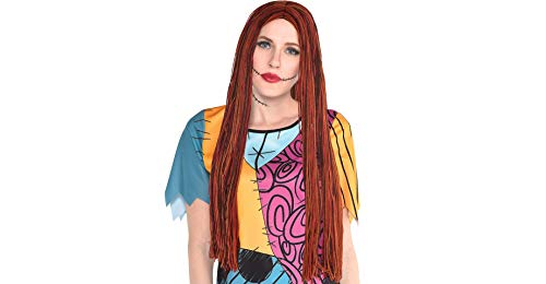 Party City The Nightmare Before Christmas Sally Halloween Wig for Women, One -
