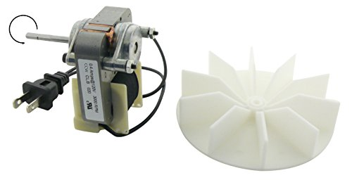 120v Replacement (Electric Motors C01575 Universal Bathroom Fan Replacement Electric Motor Kit with Fan, 120 volts)