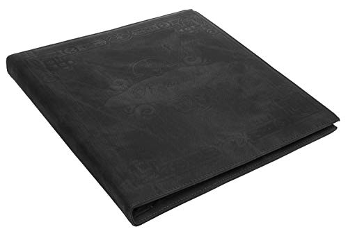 - Red Co. Black Faux Leather Family Photo Album with Embossed Decorative Borders – Holds 500 4x6 Photographs