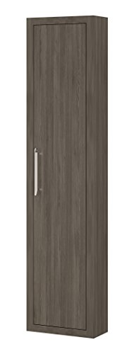 Montreal 15-inch Wide, Wall Linen Cabinet Furniture, Oak Joplin Thermo-laminated, 1 Door, Wall Mounted, Made in Spain (European Brand) (Right Opening) by Hispania bath
