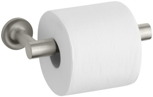 KOHLER K-14377-BN Purist Pivoting Toilet Tissue Holder, Vibrant Brushed Nickel
