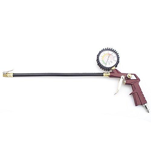 best SHININGEYES Pistolet de Gonflage Manomètre avec Embout pour Pneu Plage de Détection de Pression 0-220ps, 0-16bar