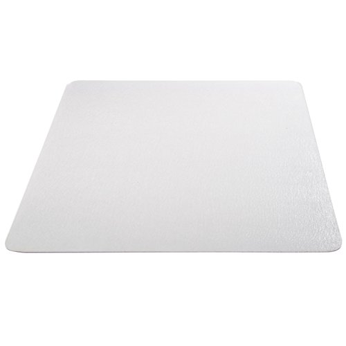Deflecto EconoMat Clear Chair Mat, Hard Floor Use, Rectangle, Straight Edge, 36