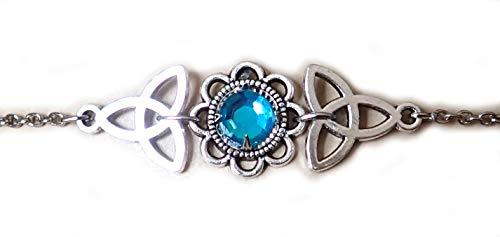 Moon Maiden Jewelry Celtic Triquetra Trinity Knot Headpiece Aqua ()