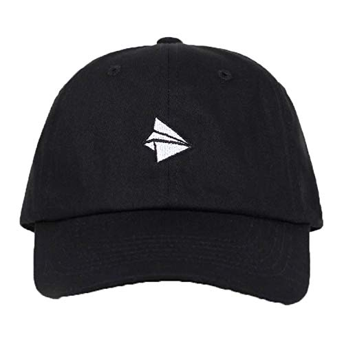 Paper Plane Embroidery Baseball Cap Men Women Summer Adjustable Cotton Lovely Dad Hat Black