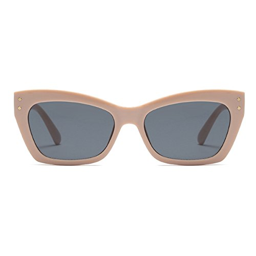 Sunglass Mode Vintage cadre Eye Cat rectangle Lunettes Fuyingda de Hommes femmes soleil Khakigrau 6BqFqnwPZ