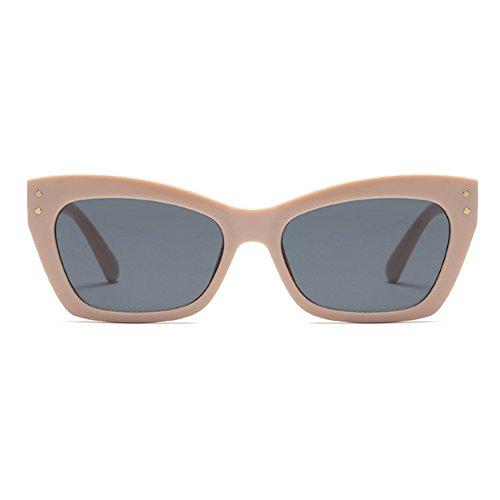 femmes de Sunglass Lunettes cadre Vintage rectangle Fuyingda Hommes soleil Cat Khakigrau Mode Eye 5wHgOqH