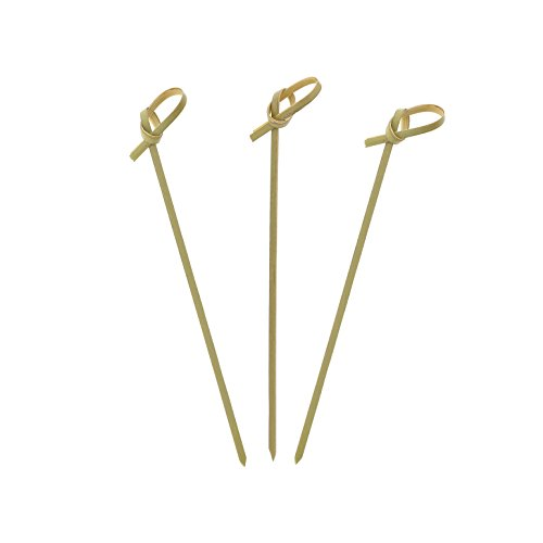 Royal Bamboo Knot Cocktail & Hors' D'oeuvre Picks - Set of 100 size 4.5 - Bar Mary Bloody