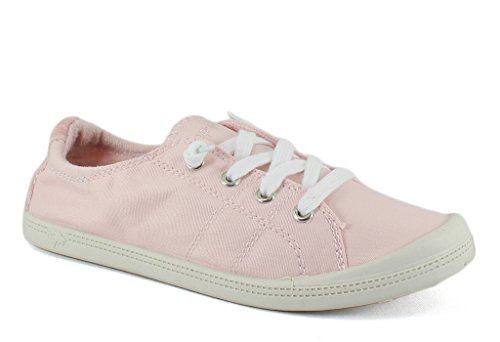 (Jellypop Dallas Womens Slip On Sneakers Light Pink Canvas 8)