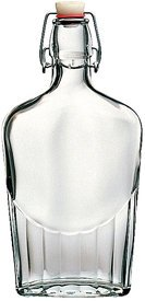 - 30 Piece Master Case - 16 Ounce (500ml) Glass Pocket Flask Bottles From Italy with Swing Top