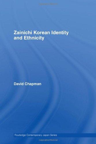 Zainichi Korean Identity and Ethnicity (Routledge Contemporary Japan Series)