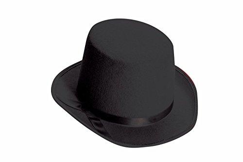 Deluxe Top Hat Black Felt Formal Roaring 20s Child Costume Accessory - Hat Felt Top Deluxe Black
