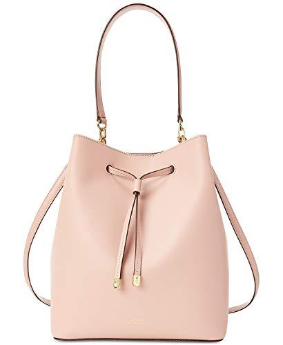 (Lauren Ralph Lauren Dryden Debby Leather Drawstring (Mellow Pink/Porcini))