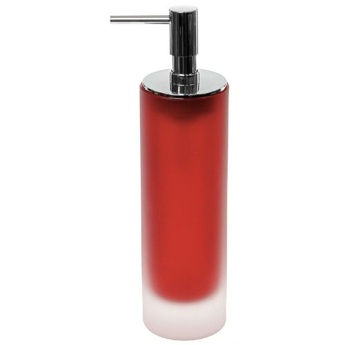 Gedy Tiglio Free Standing Soap Dispenser in Glass, Red