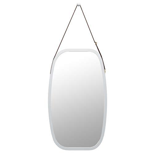 Bathroom Mirror Full Length Mirror - Wall Mount Bamboo Frame Adjustable Hanging -