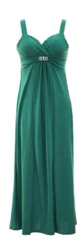 Peach Couture Sweetheart Exotic Bandeau Sleeveless Maxi Beach Evening Dress (Small, Green) - Empire Sweetheart Sleeveless
