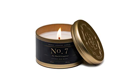Aromatherapy Candles | Fir, Musk & Grapefruit | Fragrance No. 7 | Coconut Wax Candles | Britten and - Candle Musk