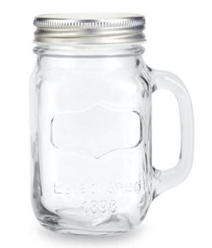 38oz Quart Size Mason Jar Mug with Silver Lids [Case of 24]