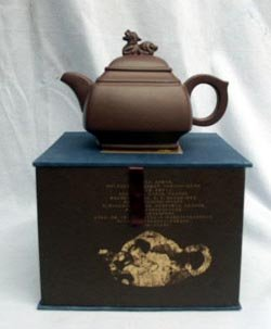 Handmade Yixing Tea Pot with Gift Box,t085 From Hollow Cr...