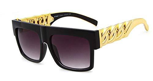 Dorado Gafas diseñador Hombres de Sol Moda Gafas de de E Gafas Sol Steampunk de Hombre Cristal Sol Vintage Gran Gafas KOMNY Marco A Marca Hombre wzqR0fzn